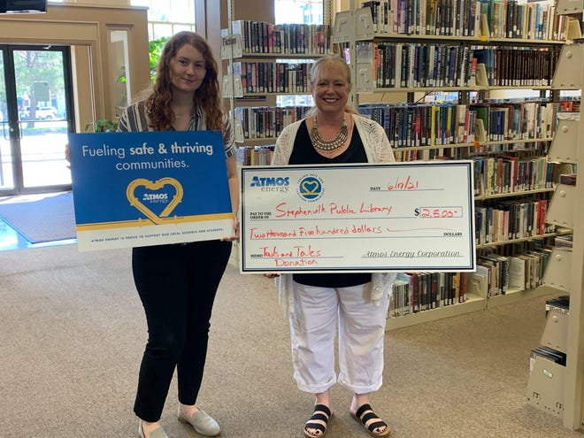 Atmos Energy recently made a $2,500 donation to the Stephenville Public Library for its summer reading program, Tails and Tales. For more on the reading program and its upcoming scheduled events, visit them on Facebook at www.facebook.com/StephenvillePublicLibrary