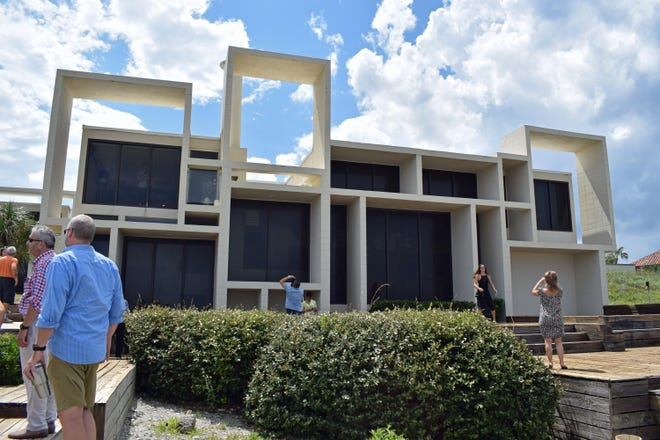 The Milam House in Ponte Vedra Beach during an August 2017 tour organized by the Sarasota Architectural Foundation.