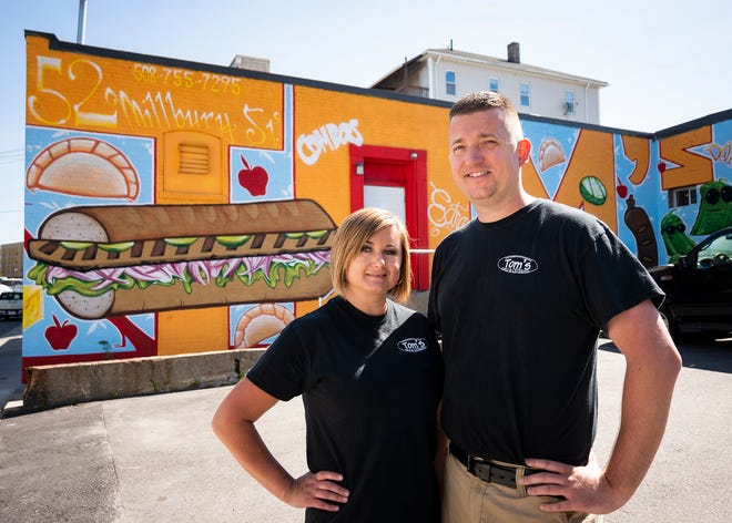 WORCESTER - Tom's International Deli owners Darek and Iwona Gago at the 52 Millbury St. location on Friday, June 18, 2021.