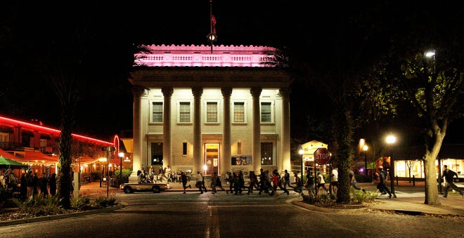 The Hippodrome Theatre is shown as a commercial was filmed there in 2012.
