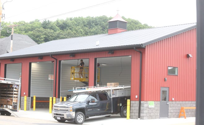 The new fire department garage in Dennison is nearly complete.