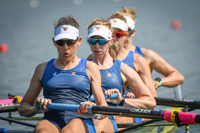 Neenah native Maddie Wanamaker, second from left, will compete for the United States rowing team at the upcoming Olympic Games.