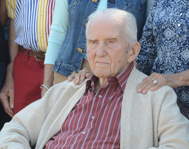 Raymond Malotte, 105, was guest of honor Thursday.