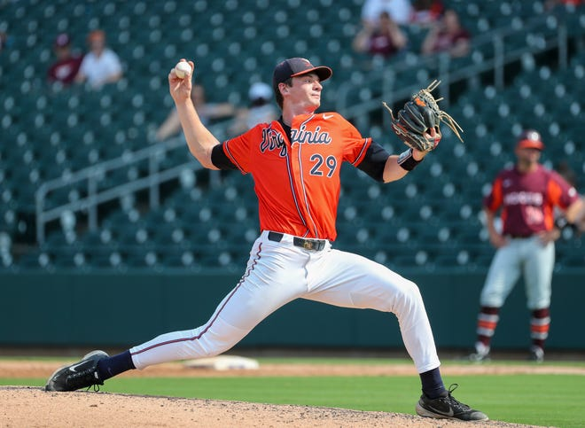 Castle graduate Zach Messinger has helped lift Virginia to its first College World Series berth since 2015.