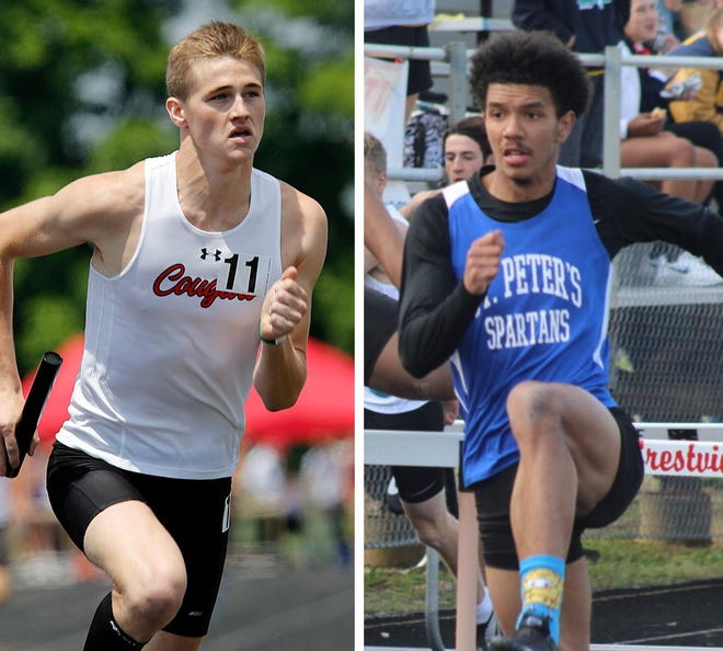 Crestview's Ross Kuhn (left) and St. Peter's Donavon Duncan have been named the co-Mansfield News Journal Boys Runners of the Year.