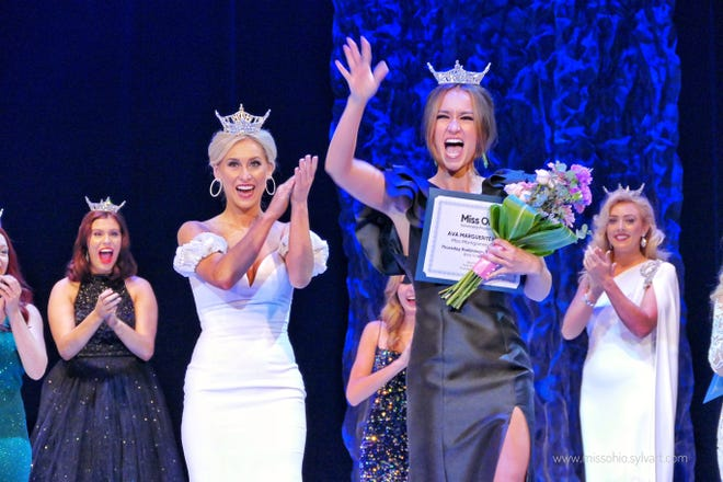 Miss Montgomery County Ava Marguerite Moore, 19, of Zanesville, captured the Thursday night preliminary talent award at the Miss Ohio Scholarship Program, winning $500. Preliminary competition continues Friday night at the Renaissance Theatre and the new Miss Ohio will be crowned Saturday night.