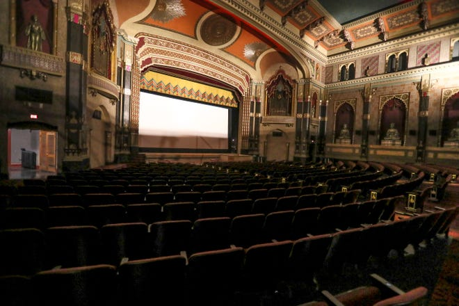 Work is just about completed on renovations for the Oriental Theatre, 2230 N. Farwell Ave. In the 500-seat main auditorium, the ornate ceiling, seats and detail work have all been upgraded, and a hearing loop has been installed.