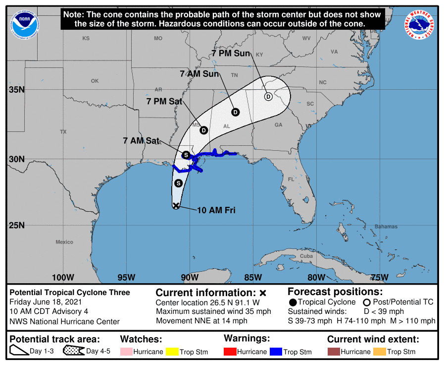 Tropical Storm Claudette remains likely to form, bringing heavy rains to Gulf Coast