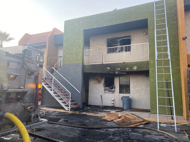 Two units were destroyed and a firefighter received burn injuries in an apartment fire on June 17, 2021. The firefighter was sent to a local hospital in stable condition.