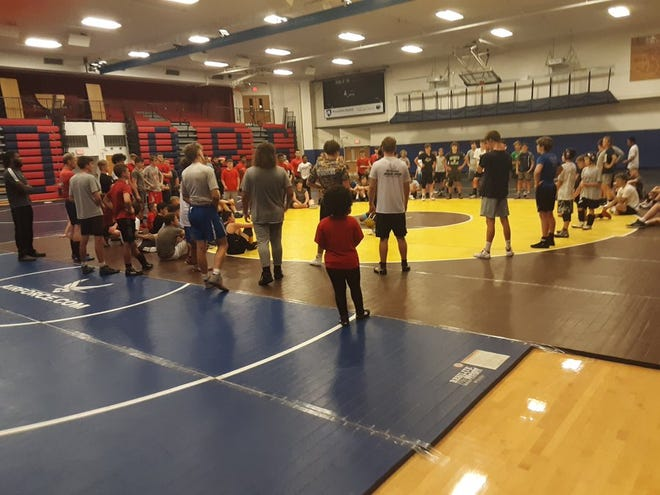 Over 100 wrestlers from across the state and beyond are attending wrestling camp at Lebanon High this weekend and getting instruction and guidance from wrestlers like Aaron Brooks from Penn State, thanks to the efforts of Lebanon High head coach Vaughn Black.