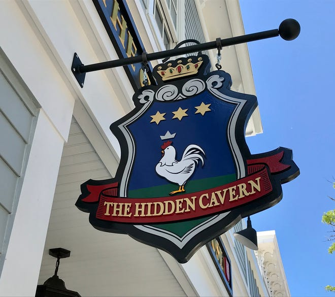 The sign for the Hidden Cavern event venue in downtown Lexington on June 17, 2021.