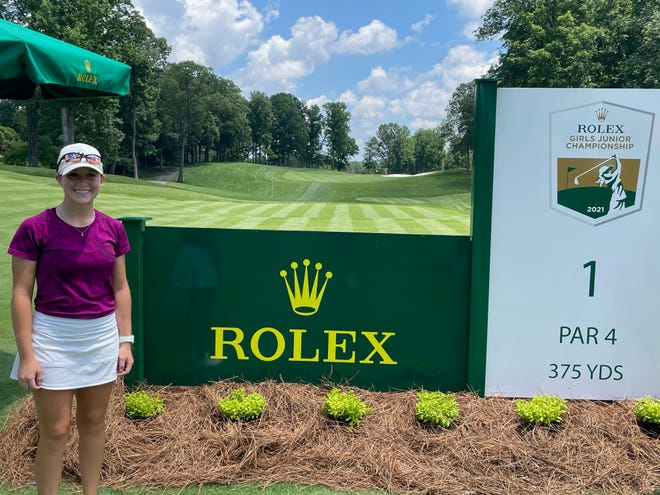 San Angeloan Ryann Honea wrapped up four rounds of competition at the AJGA's Rolex Girls Junior Championship at Robert Trent Jones Golf Club in Gainesville, Virginia, on Friday, June 18, 2021. The 2021 UIL Class 6A state champion will be a senior this fall at San Angelo Central.