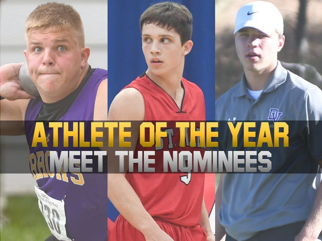 Boys Athlete of the Year nominees: Watertown's Cooper Mack, Dell Rapids St. Mary's Connor Libis and Dakota Valley's Paul Bruns