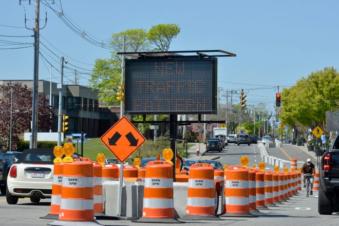 Not everyone is thrilled with the cement barriers that divert traffic down to one lane along Hyannis Main Street.