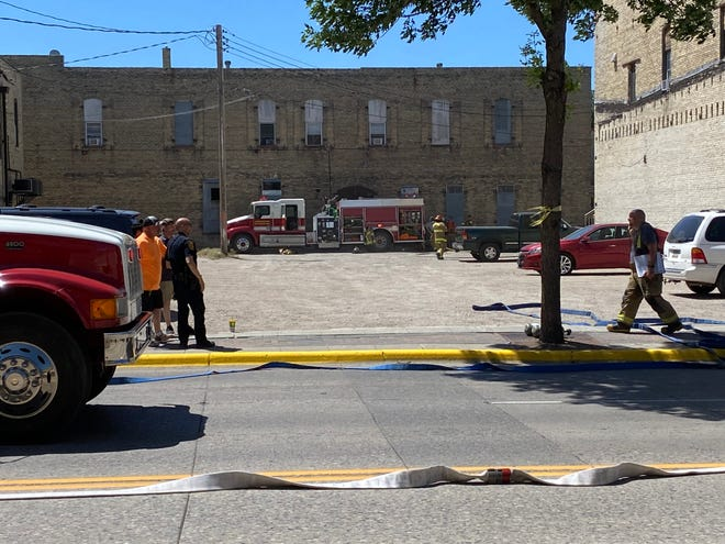 The scene at Friday's downtown apartment fire