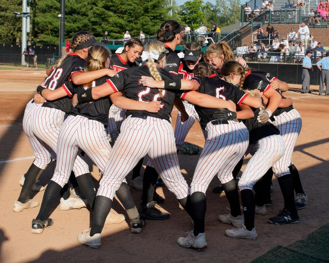Clinton softball gets excited for the Division 3 semifinal game Friday at Michigan State against Richmond.