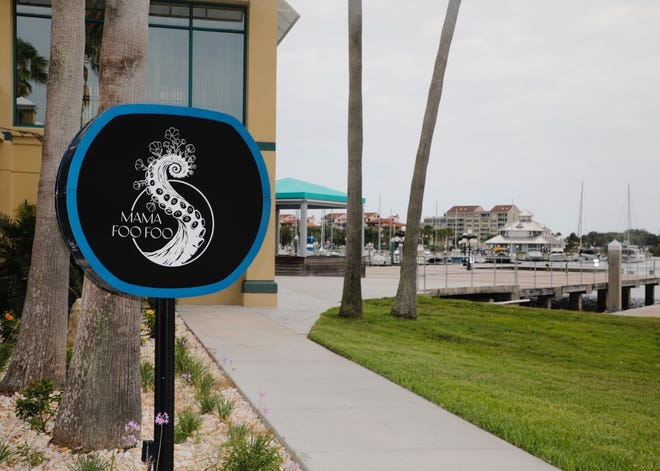 Mama Foo Foo sign at 125 Basin St., Daytona Beach, June 18, 2021.