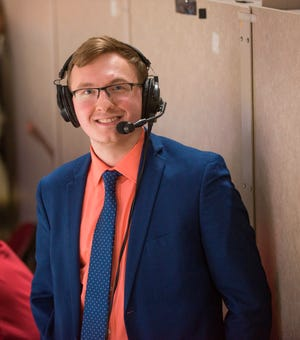 Peoria Rivermen broadcaster Andrew Mossbrooks is moving on to the ECHL.