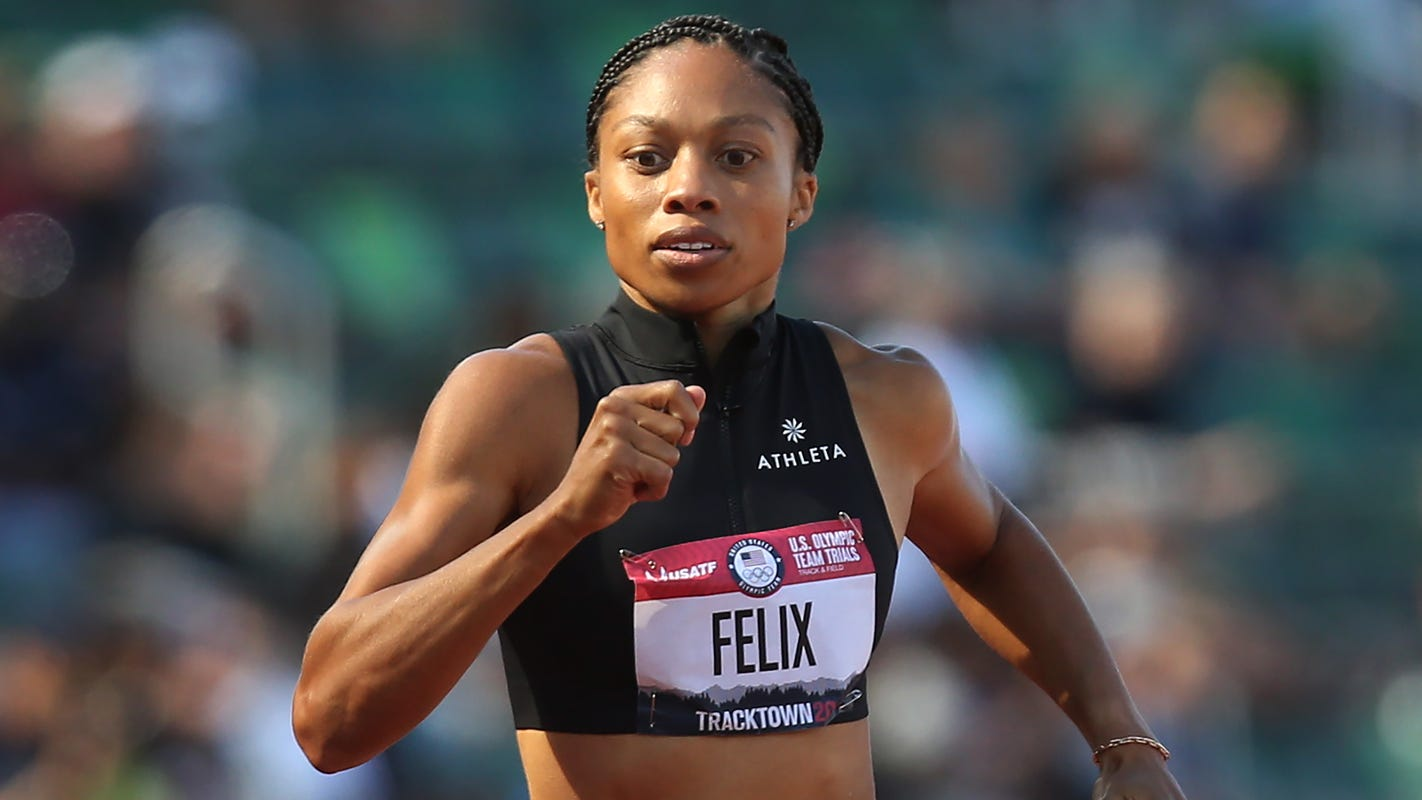 Allyson Felix officially punches ticket to fifth Olympic Games – and her first as a mom - USA TODAY