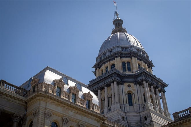 The Illinois state Capitol.