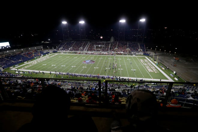 Pickerington Central and Mentor square off during the Division I State Championship game Dec. 1, 2017, at Tom Benson Hall of Fame Stadium in Canton, Ohio. The Ohio High School Athletic Association (OHSAA) announced June 16 the football state championships would be returning to the venue for all divisions on a three-year deal beginning with the 2021-22 season.