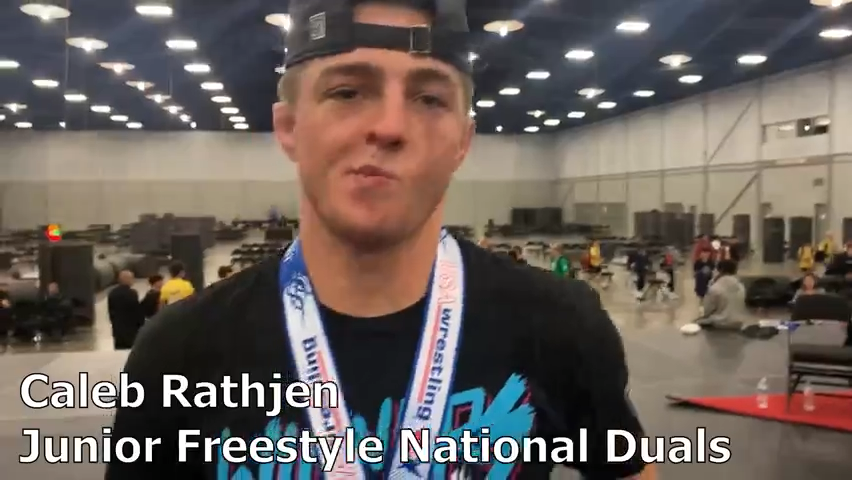 Ankeny's Caleb Rathjen and Iowa win the Junior Freestyle National Duals