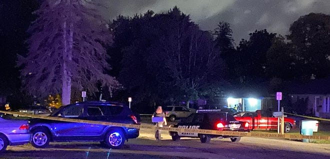 Police early Saturday were at the scene of a fatal shooting in the 1300 block of West Abbott Street near the Ball State University campus.