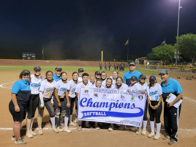 The Oñate softball team will host Cibola in the Class 5A quarterfinals on Tuesday.