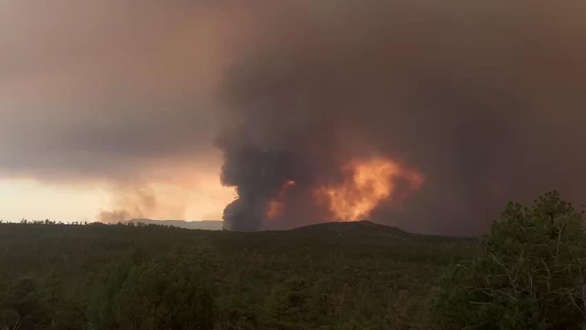 Backbone Fire burns north of Strawberry