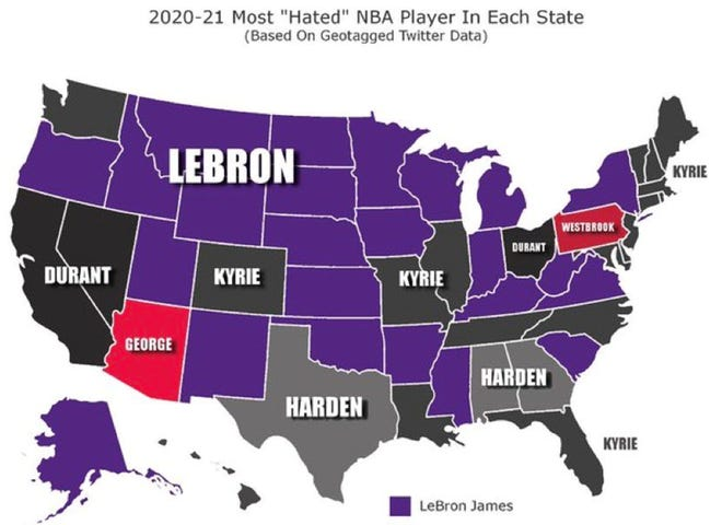 Arizona NBA fans evidently really don't like Paul George.