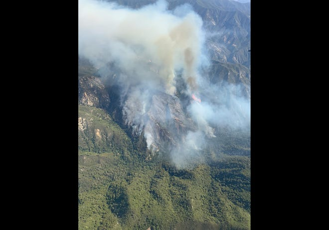 Images of the Willow Fire on Friday, June 18, 2021.