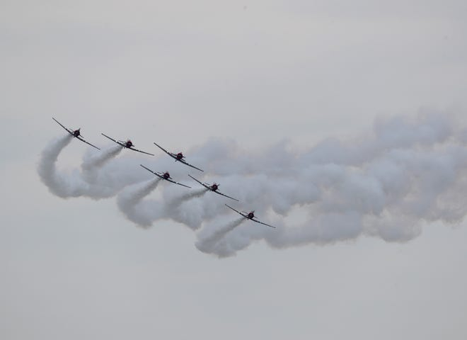 The Ocean City Airshow took flight Saturday, June 19, 2021, with the Geico Skytypers, Air Force Thunderbirds and more.