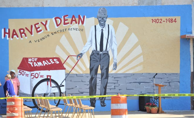 The Harvey Dean mural that was unveiled at the Harvey Dean Mural Unveiling in Vernon.
