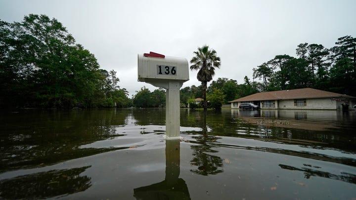 Tropical Storm Claudette flooded a neighborhood in Slidell, La., on June 19.