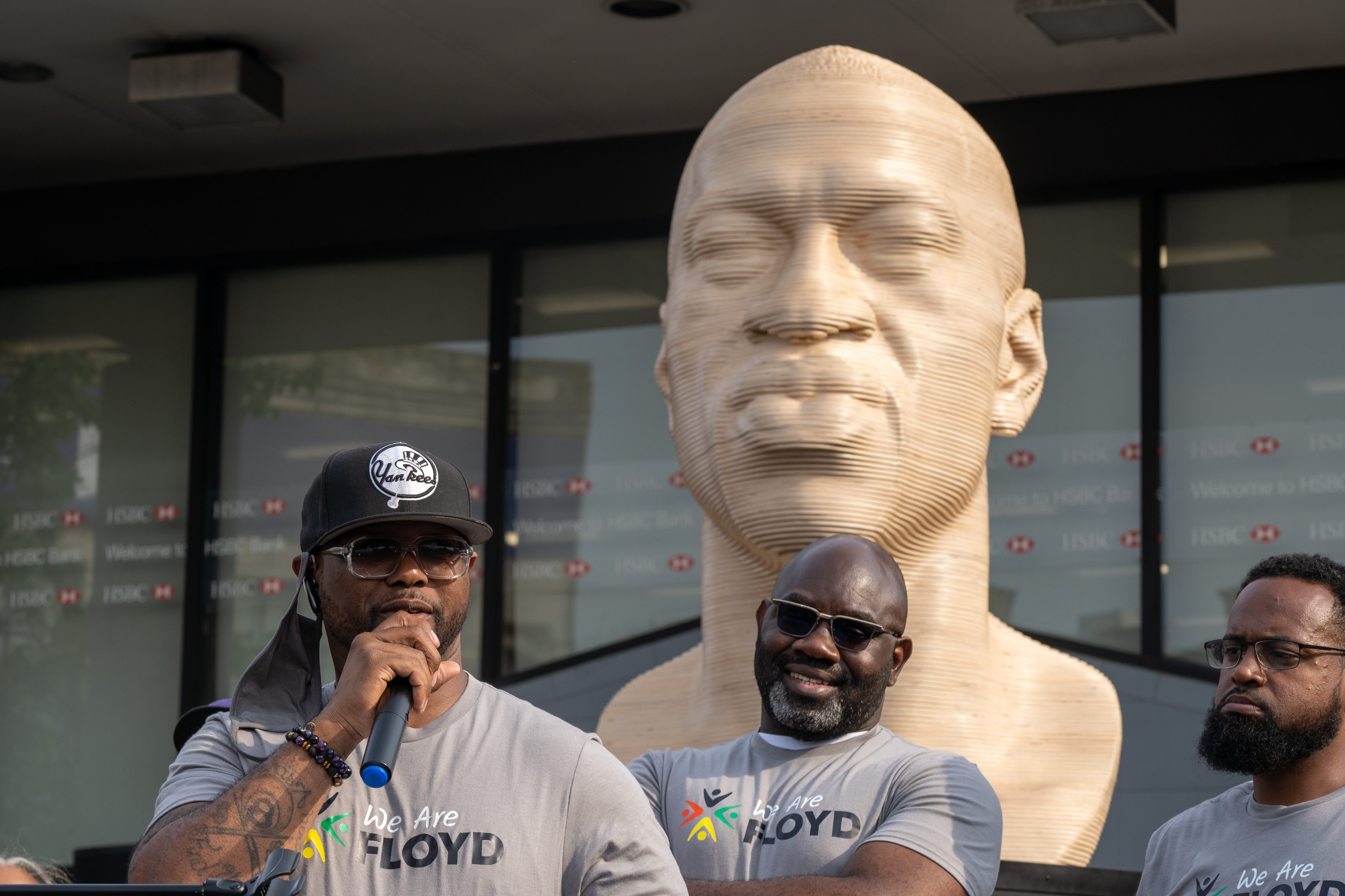 Shameful : George Floyd statues, unveiled for Juneteenth, vandalized in NYC, New Jersey