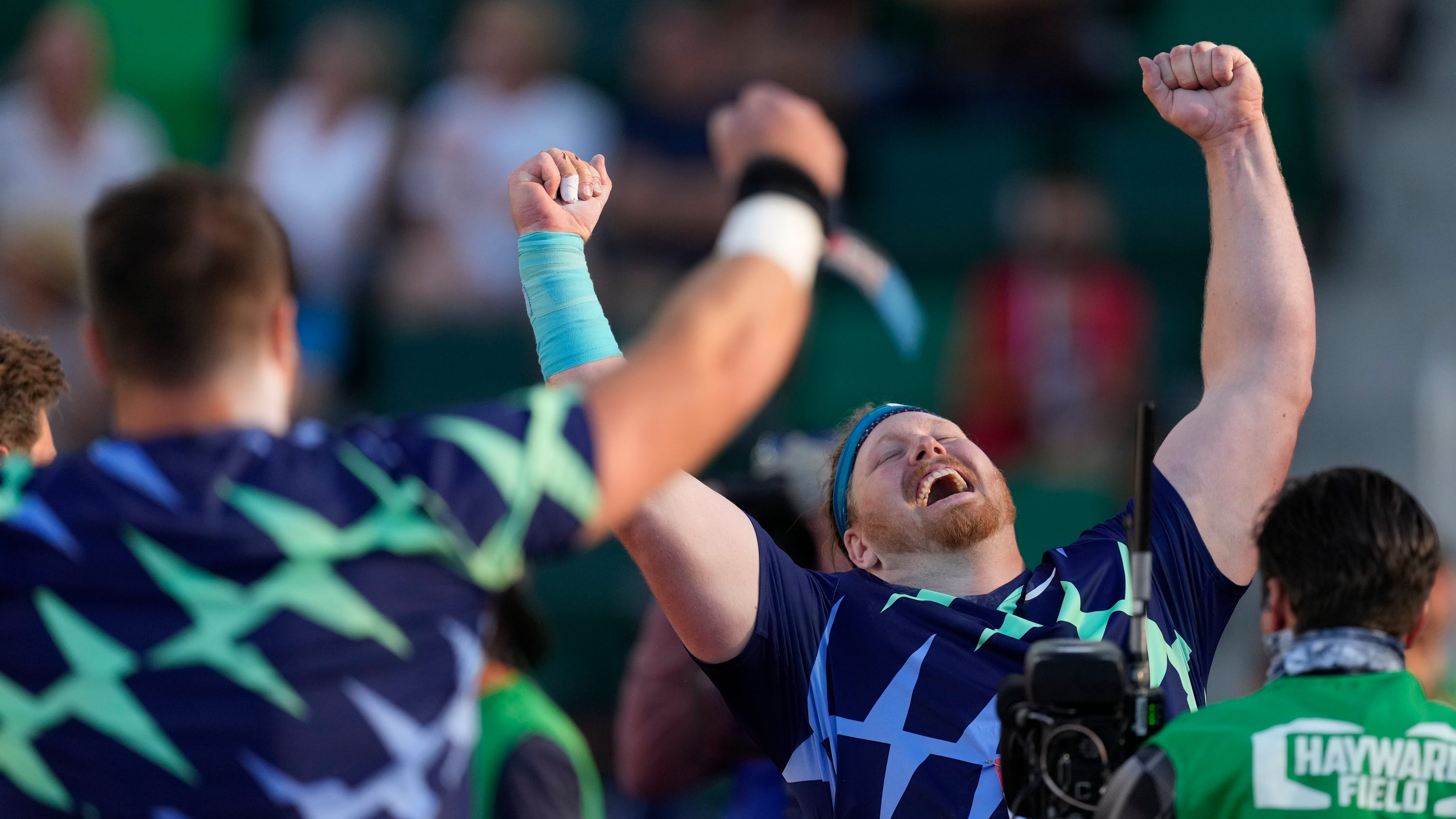 Ryan Crouser shatters world record in men's shot put at Olympic trials