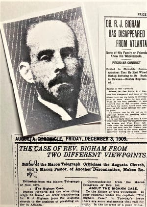 A former Augusta pastor's struggle to find a post where he would be accepted, and his brief disappearance, received plenty of coverage in 1909.