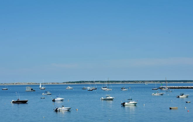 The view of Provincetown Harbor off the back of the Lobster Pot restaurant.