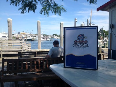 Spanky's in Hyannis is situated right on Hyannis Harbor.
