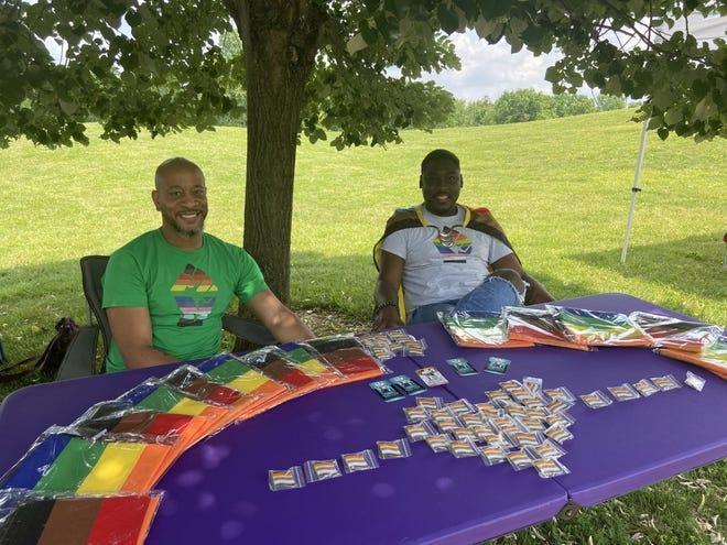 Ta'Shobe and Preston Kindred-Williams at Rainbow UA Pride