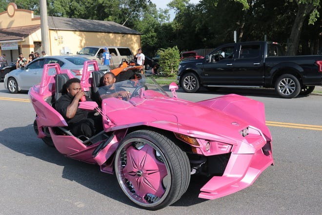 """Customized cars were a common sight at the"""" Crush Da Block"""" car and bike show Sunday as part of the Orange Crush Festival for its first year in Jacksonville."""