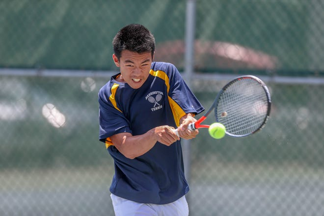 Barrington senior Eric Zhang won the RIIL Boys Tennis Singles Championship this spring, earning a spot on the ProJo All-State team and being named the Providence Journal Boys Tennis MVP.