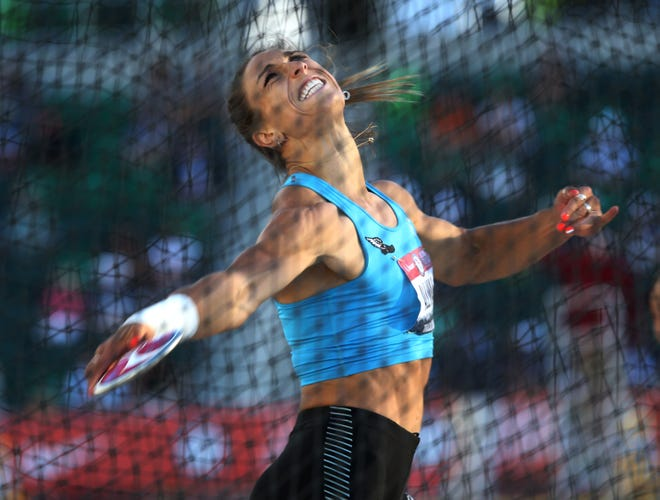 Valarie Allman dominated the women's discus competition Saturday, winning by more than 24 feet during day two of the U.S. Olympic Track & Field Trials at Hayward Field.