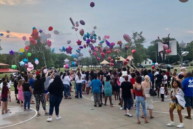 A balloon release was held June 19 to memorialize 13-year-old gunshot fatality victim DaMya Hudnall.