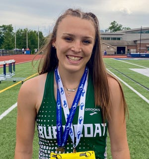 Burncoat sophomore Katherine DeFosse won the 200 hurdles and placed third in the 100 at the D1 Central/West track championships.