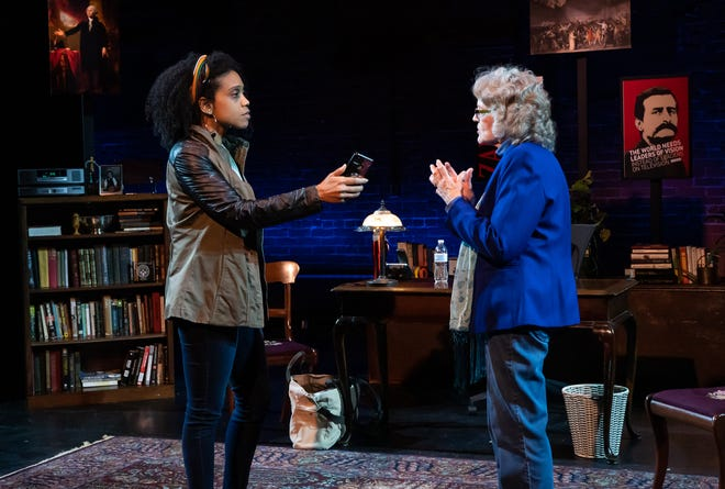 """Elizabeth Hylton, left, and Martha Hultgren in a scene from """"The Niceties."""""""