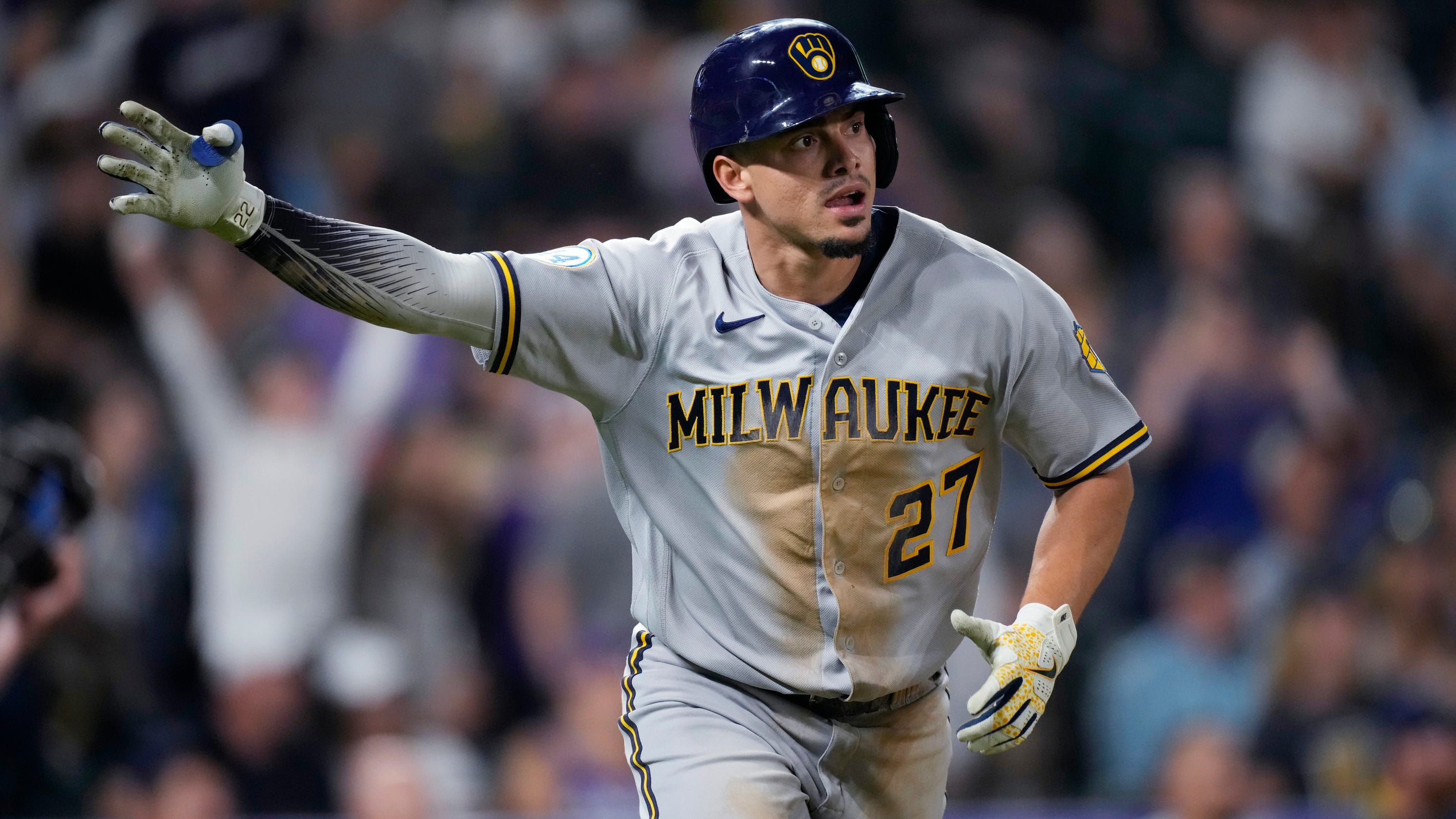 Brewers 6, Rockies 5: Two-run homer in ninth by Willy Adames gives sagging club a much-needed victory