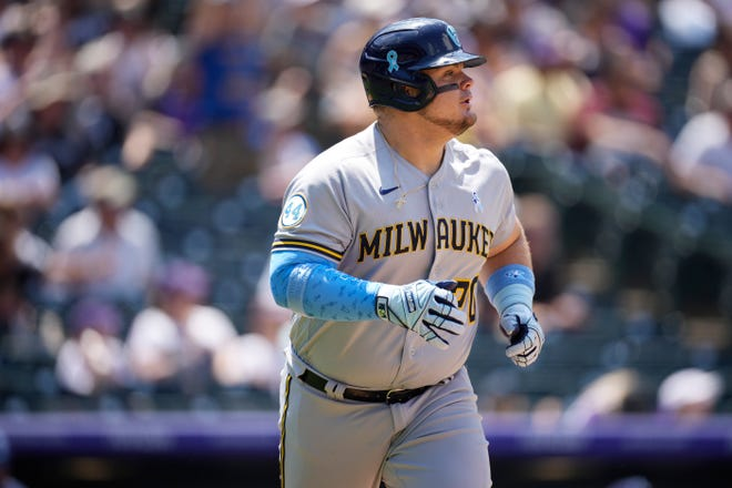Brewers first baseman Daniel Vogelbach was activated from the injured list Wednesday.
