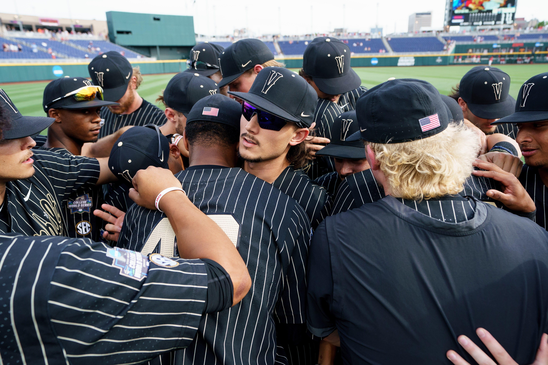 Vanderbilt baseball press conference after Arizona game at 2021 College World Series