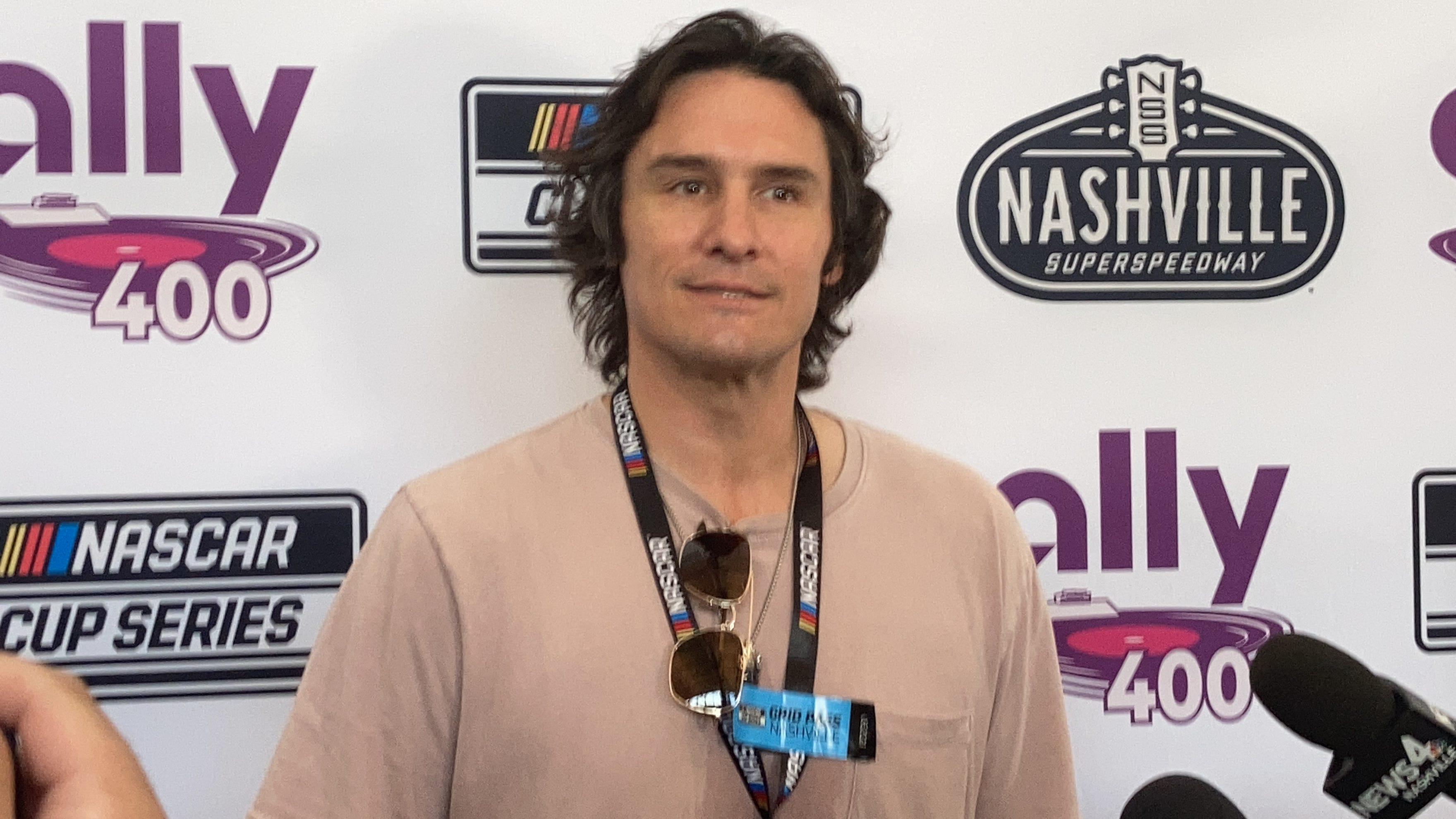 VIDEO: Country music singer Joe Nichols talks NASCAR being back in Nashville, sponsoring a car